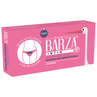 Plasturi menstruali, termici de la Barza