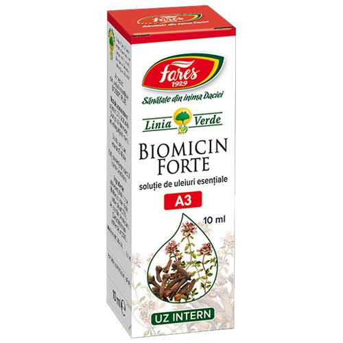 Biomicin Forte, antibacterian natural, uleiuri esentiale, Fares