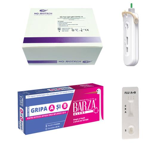 teste rapide covid, teste rapide gripa