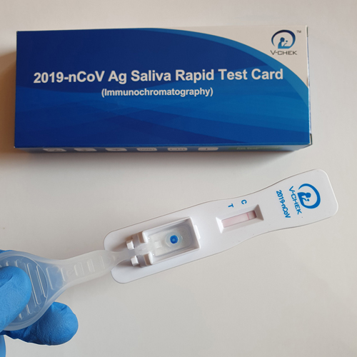 test rapid antigen saliva dispozitiv colectare incorporat